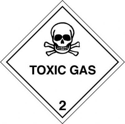 Ct23l Placardcontainer Label 300mm X 300mm Class 2 Toxic Gas 23 Single Label 431 P